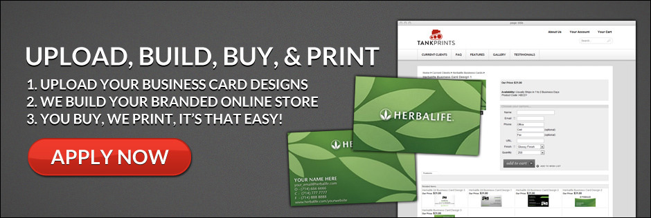 Upload Build Buy and Print Your Network Marketing Business Cards